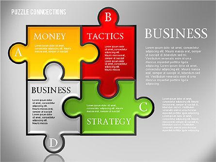 Puzzle Connections, Slide 4, 01637, Puzzle Diagrams — PoweredTemplate.com