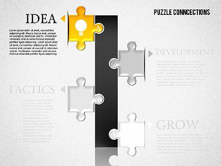 Puzzle Connections, Slide 5, 01637, Puzzle Diagrams — PoweredTemplate.com