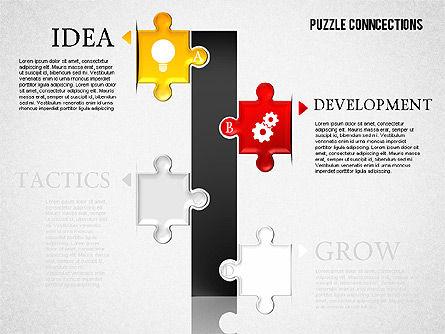 Puzzle Connections, Slide 6, 01637, Puzzle Diagrams — PoweredTemplate.com