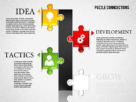Puzzle Connections, Slide 7, 01637, Puzzle Diagrams — PoweredTemplate.com
