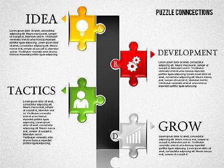 Puzzle Connections, Slide 8, 01637, Puzzle Diagrams — PoweredTemplate.com