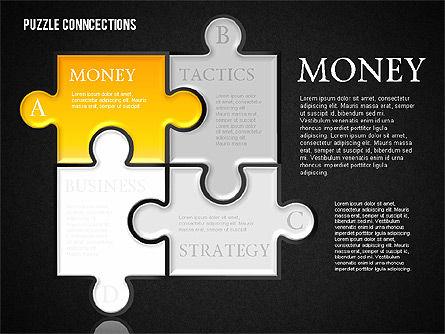 Puzzle Connections, Slide 9, 01637, Puzzle Diagrams — PoweredTemplate.com