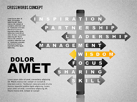 Crossword Toolbox, Slide 12, 01638, Business Models — PoweredTemplate.com