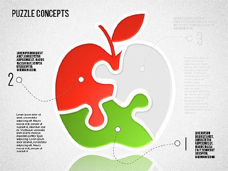 Puzzle Concept, Slide 2, 01642, Puzzle Diagrams — PoweredTemplate.com