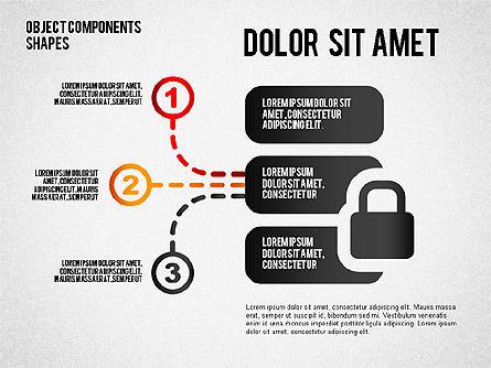 Objects Components Diagram, Slide 2, 01643, Business Models — PoweredTemplate.com