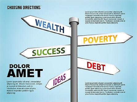 Forked Street Signs, Slide 3, 01648, Business Models — PoweredTemplate.com