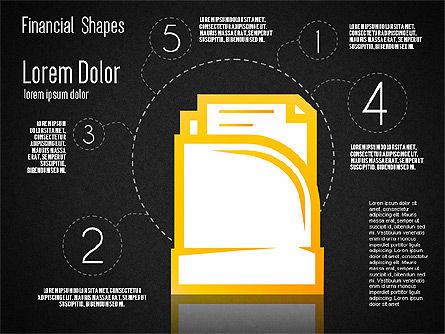 Financial Shapes, Slide 10, 01649, Shapes — PoweredTemplate.com