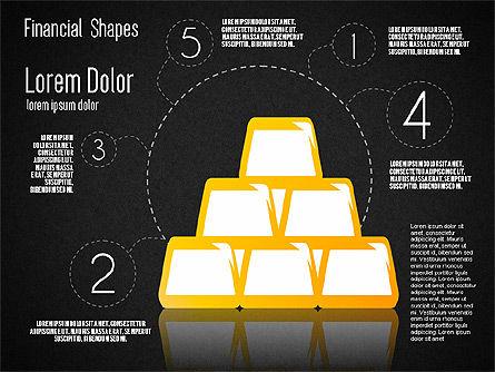 Financial Shapes, Slide 11, 01649, Shapes — PoweredTemplate.com
