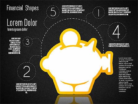 Financial Shapes, Slide 12, 01649, Shapes — PoweredTemplate.com
