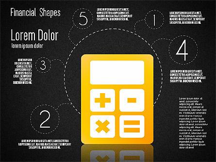 Financial Shapes, Slide 13, 01649, Shapes — PoweredTemplate.com