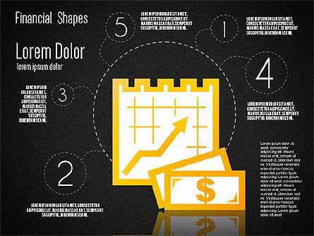 Financial Shapes, Slide 15, 01649, Shapes — PoweredTemplate.com