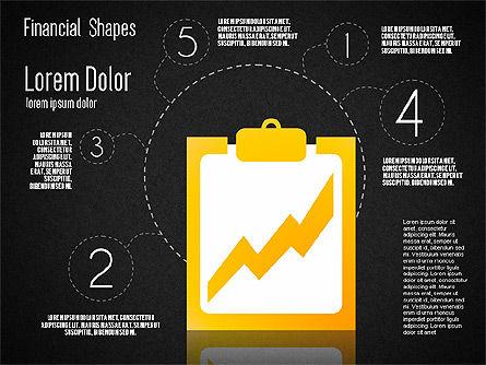 Financial Shapes, Slide 16, 01649, Shapes — PoweredTemplate.com