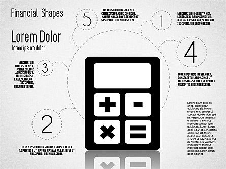 Financial Shapes, Slide 5, 01649, Shapes — PoweredTemplate.com