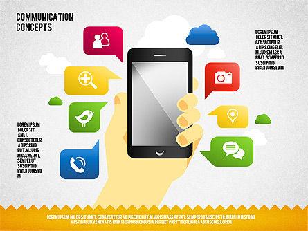 Shapes: Schéma de concept de communication et formes #01651