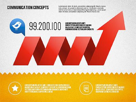 Communication Concept Diagram and Shapes, Slide 10, 01651, Shapes — PoweredTemplate.com
