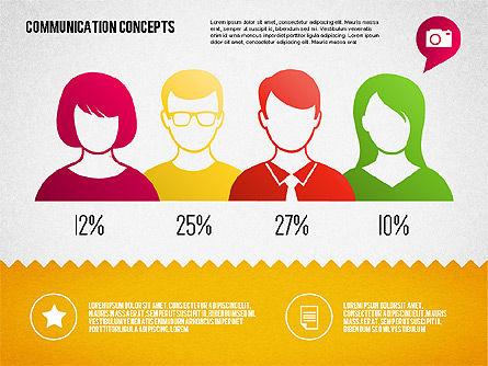 Communication Concept Diagram and Shapes, Slide 11, 01651, Shapes — PoweredTemplate.com