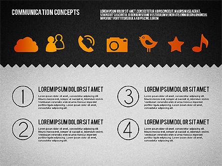 Communication Concept Diagram and Shapes, Slide 14, 01651, Shapes — PoweredTemplate.com