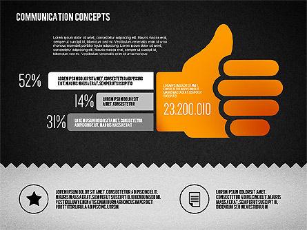 Communication Concept Diagram and Shapes, Slide 15, 01651, Shapes — PoweredTemplate.com