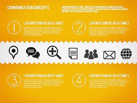 Communication Concept Diagram and Shapes Slide 2