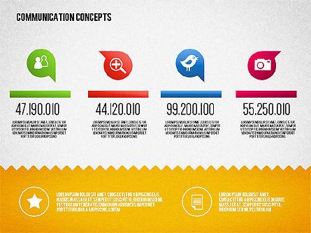 Communication Concept Diagram and Shapes Slide 3