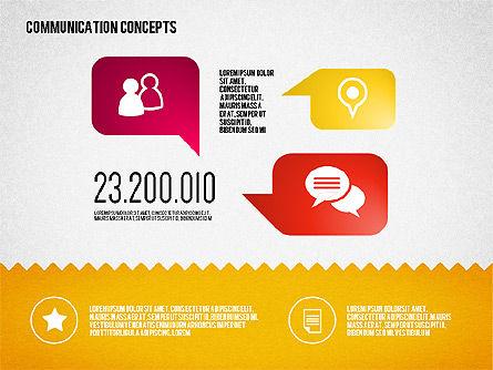 Communication Concept Diagram and Shapes Slide 4