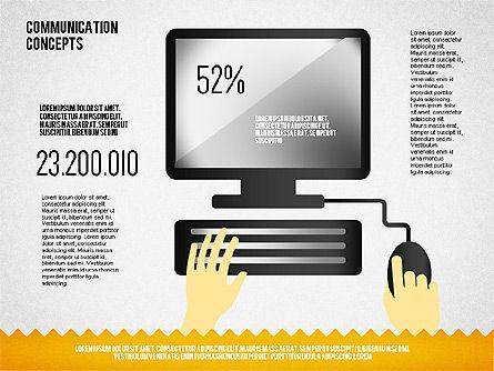Communication Concept Diagram and Shapes, Slide 5, 01651, Shapes — PoweredTemplate.com