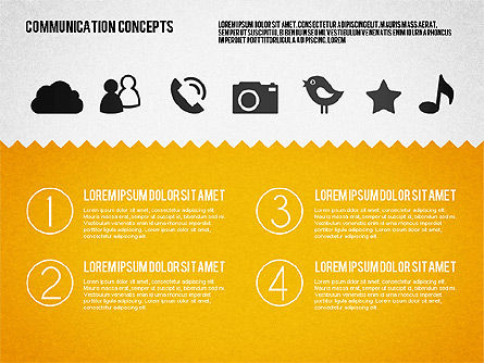 Communication Concept Diagram and Shapes, Slide 6, 01651, Shapes — PoweredTemplate.com