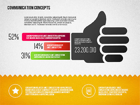 Communication Concept Diagram and Shapes, Slide 7, 01651, Shapes — PoweredTemplate.com