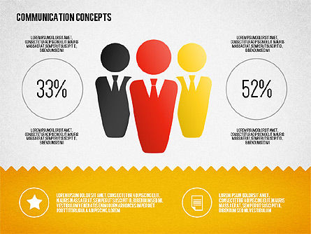 Communication Concept Diagram and Shapes, Slide 8, 01651, Shapes — PoweredTemplate.com