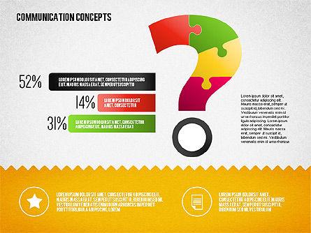 Communication Concept Diagram and Shapes, Slide 9, 01651, Shapes — PoweredTemplate.com