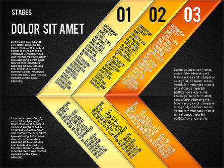 Reflected Stages, Slide 12, 01655, Stage Diagrams — PoweredTemplate.com