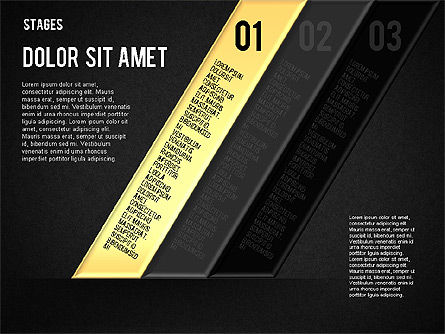 Reflected Stages, Slide 13, 01655, Stage Diagrams — PoweredTemplate.com
