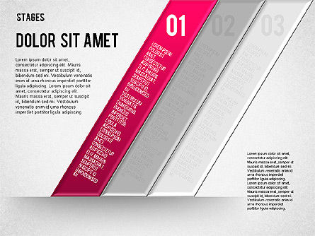 Reflected Stages, Slide 5, 01655, Stage Diagrams — PoweredTemplate.com