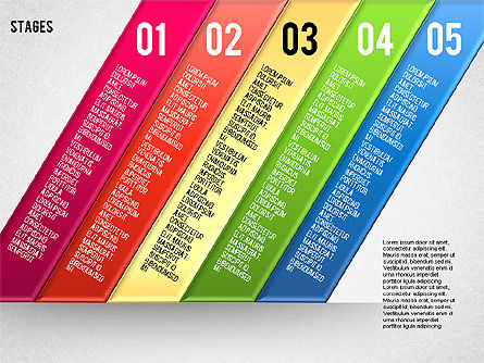 Reflected Stages, Slide 8, 01655, Stage Diagrams — PoweredTemplate.com