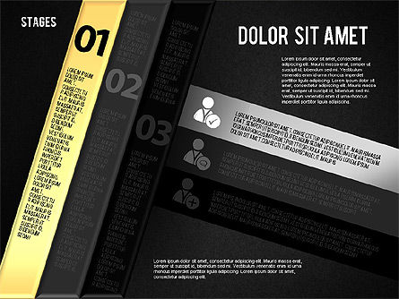 Reflected Stages, Slide 9, 01655, Stage Diagrams — PoweredTemplate.com