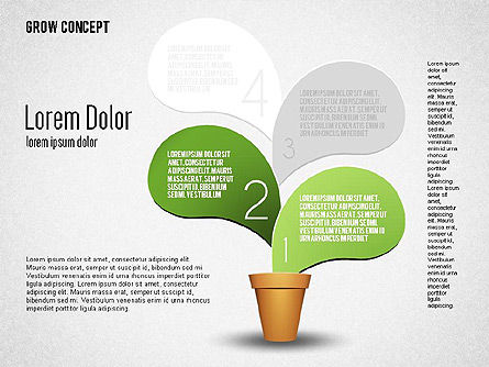 Grow Concept, Slide 2, 01656, Stage Diagrams — PoweredTemplate.com
