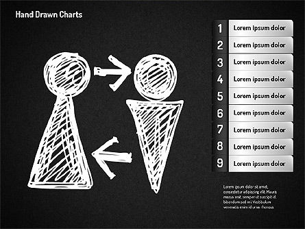 Chalk Style Shapes, Slide 9, 01658, Shapes — PoweredTemplate.com