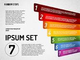 Rainbow Colored Steps Diagram#7