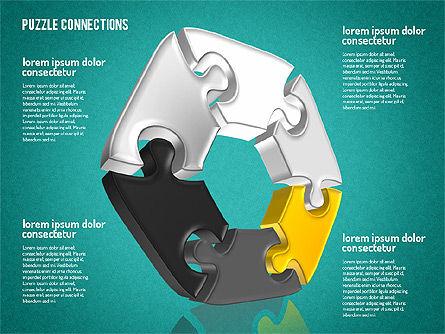 3D Jigsaw Shapes, Slide 10, 01660, Shapes — PoweredTemplate.com