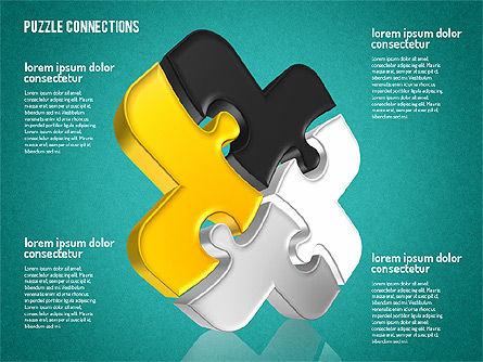 3D Jigsaw Shapes, Slide 11, 01660, Shapes — PoweredTemplate.com