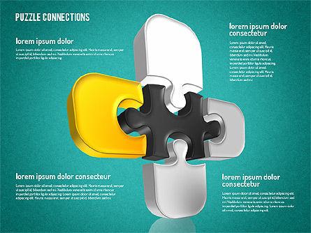3D Jigsaw Shapes, Slide 15, 01660, Shapes — PoweredTemplate.com