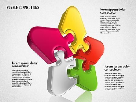 3D Jigsaw Shapes, Slide 6, 01660, Shapes — PoweredTemplate.com