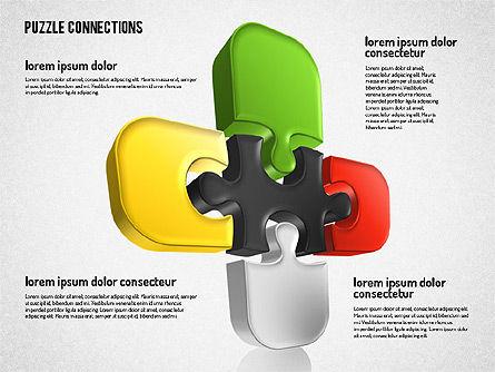 3D Jigsaw Shapes, Slide 7, 01660, Shapes — PoweredTemplate.com