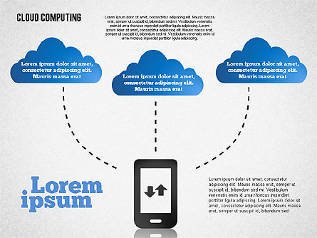 Cloud Distributed Computing Diagram, Slide 4, 01661, Business Models — PoweredTemplate.com