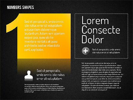 Number Shapes, Slide 13, 01665, Shapes — PoweredTemplate.com