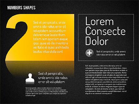 Number Shapes, Slide 14, 01665, Shapes — PoweredTemplate.com