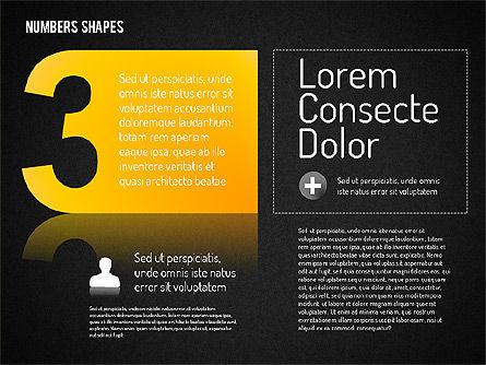Number Shapes, Slide 15, 01665, Shapes — PoweredTemplate.com