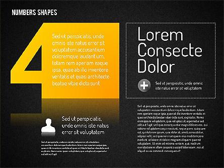 Number Shapes, Slide 16, 01665, Shapes — PoweredTemplate.com