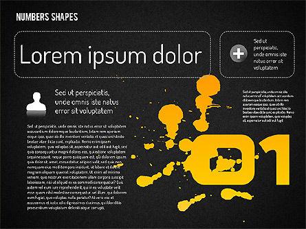 Number Shapes, Slide 9, 01665, Shapes — PoweredTemplate.com