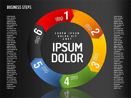 Decision Making Steps, Slide 10, 01667, Stage Diagrams — PoweredTemplate.com